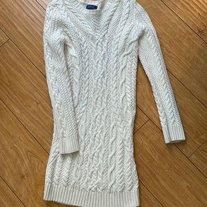 Ralph Lauren size 8-10 cream sweater dress